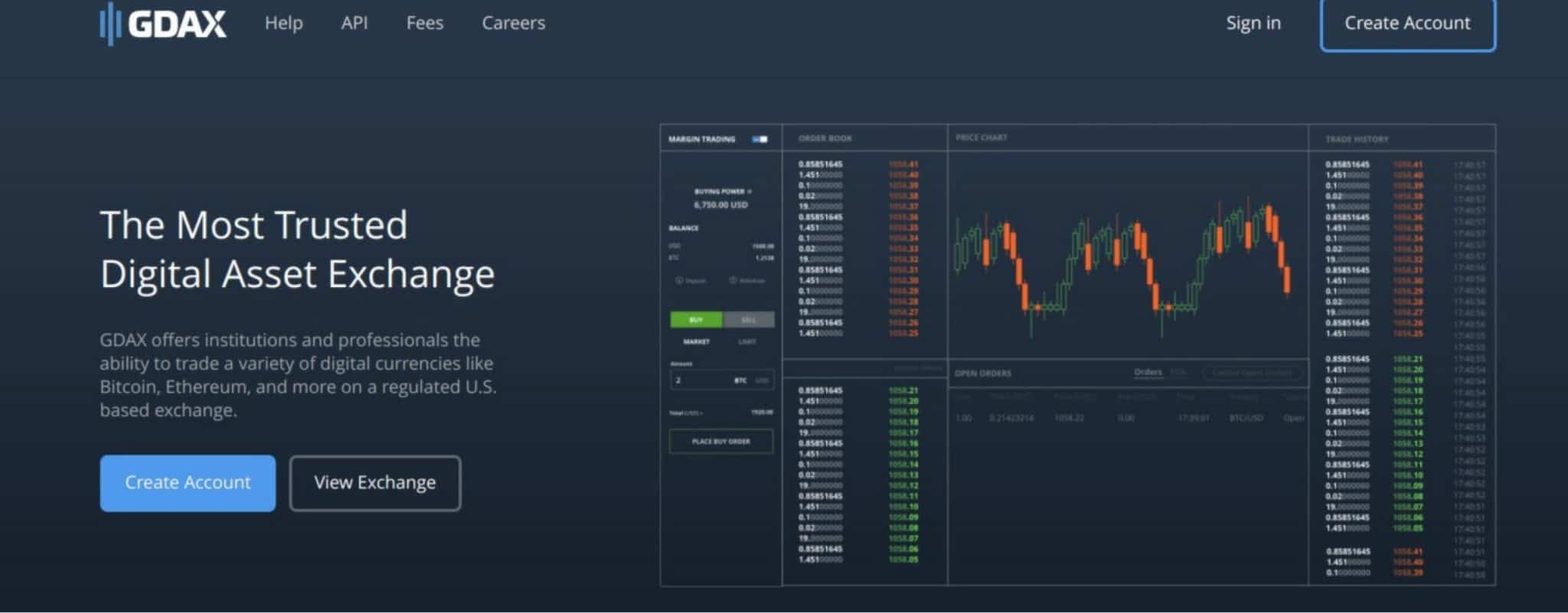 GDAX system as option