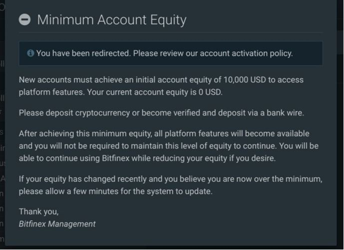 minimum account equity