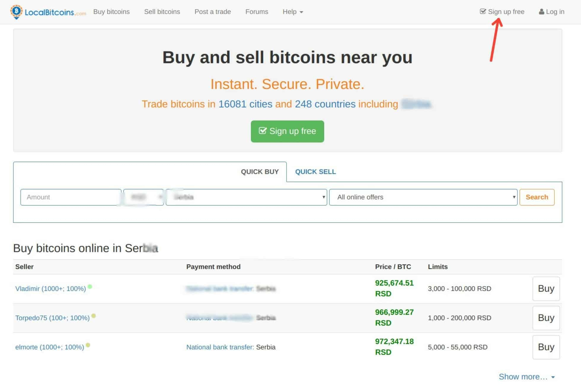 buying in selling bitcoin