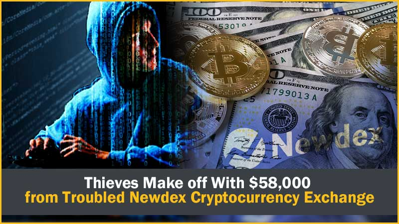 Thieves Make off With $58,000 from Troubled Newdex Cryptocurrency Exchange